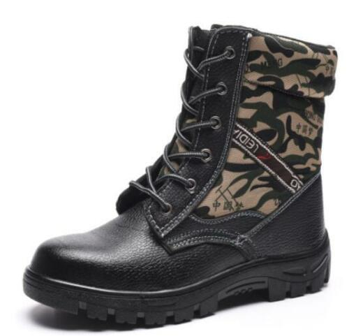 Mens Camouflage Steel toe Fur Lined Snow Work Ankle boots Safety shoes Warm Plus