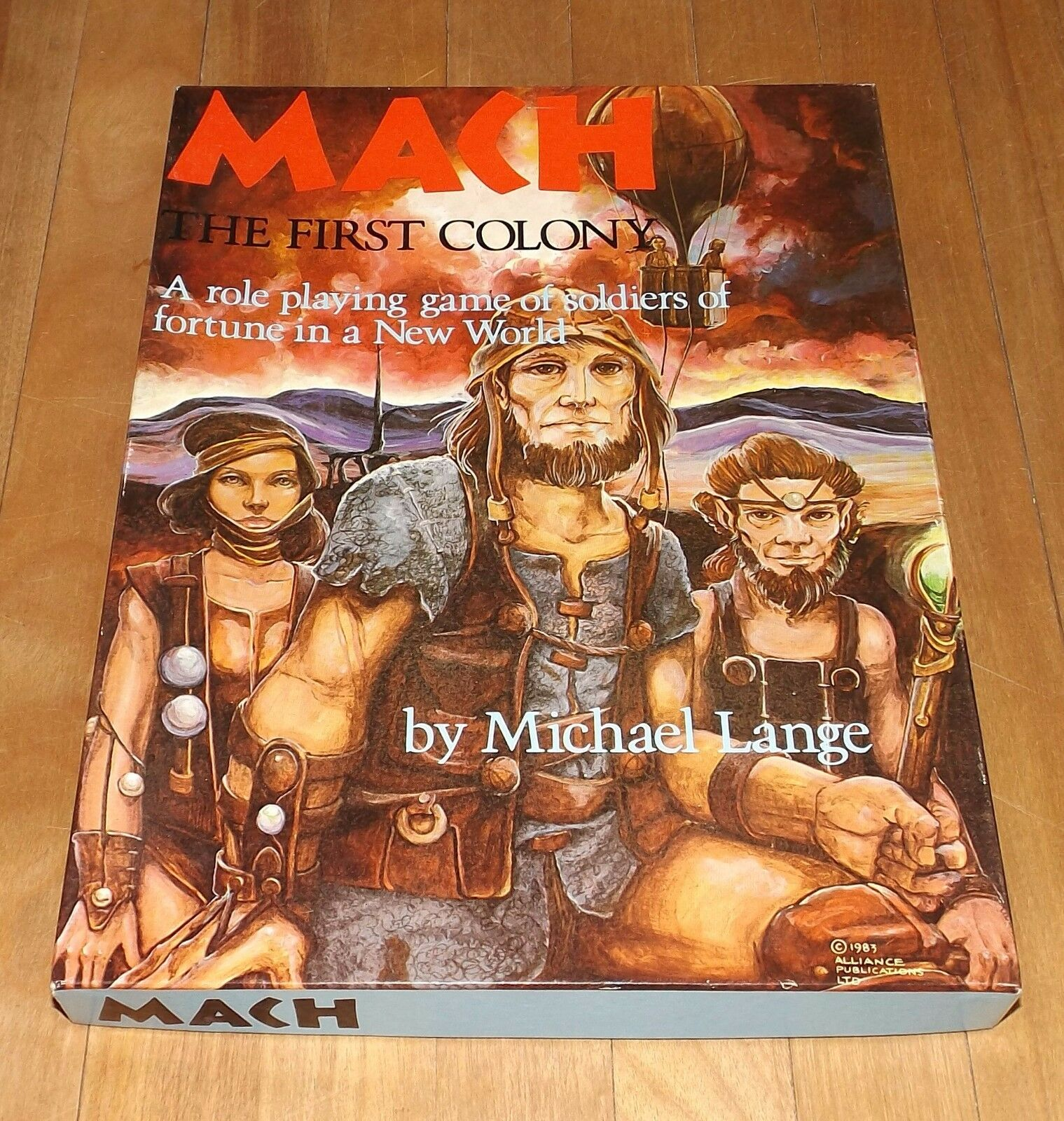 MACH   THE FIRST COLONY game ALLIANCE PUBLICATIONS LTD. complete