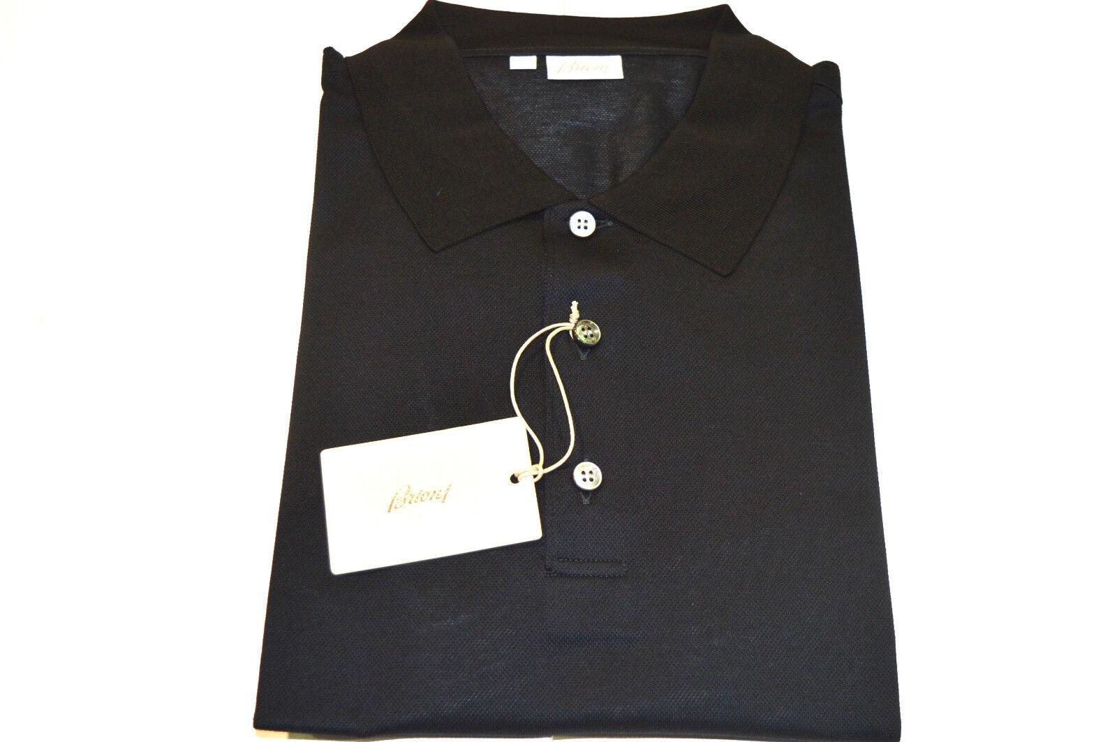 NEW  BRIONI Polo  Short Sleeve Cotton Größe L Us Eu 52 (SP13)