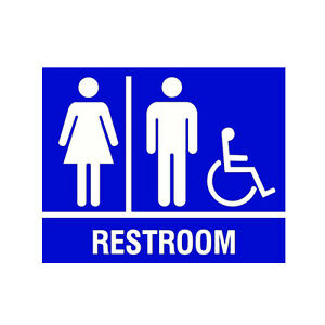 Bathroom Sign Handicap unisex handicap public restroom bathroom sign business store