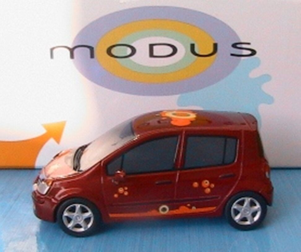 COFFRET RENAULT MODUS PHASE 1 2004 ROUGE NOREV RESINE 1 43