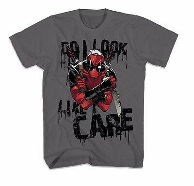 Deadpool Like I Care Marvel Comics Officially Licensed Graphic T Shirt