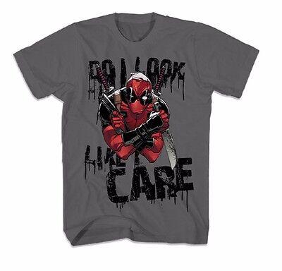 Deadpool Like I Care Marvel Comics Licensed Adult T Shirt