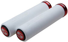 SRAM MTB Locking Mountain Bike MTB Grips Straight Foam Grip Set - White/Red
