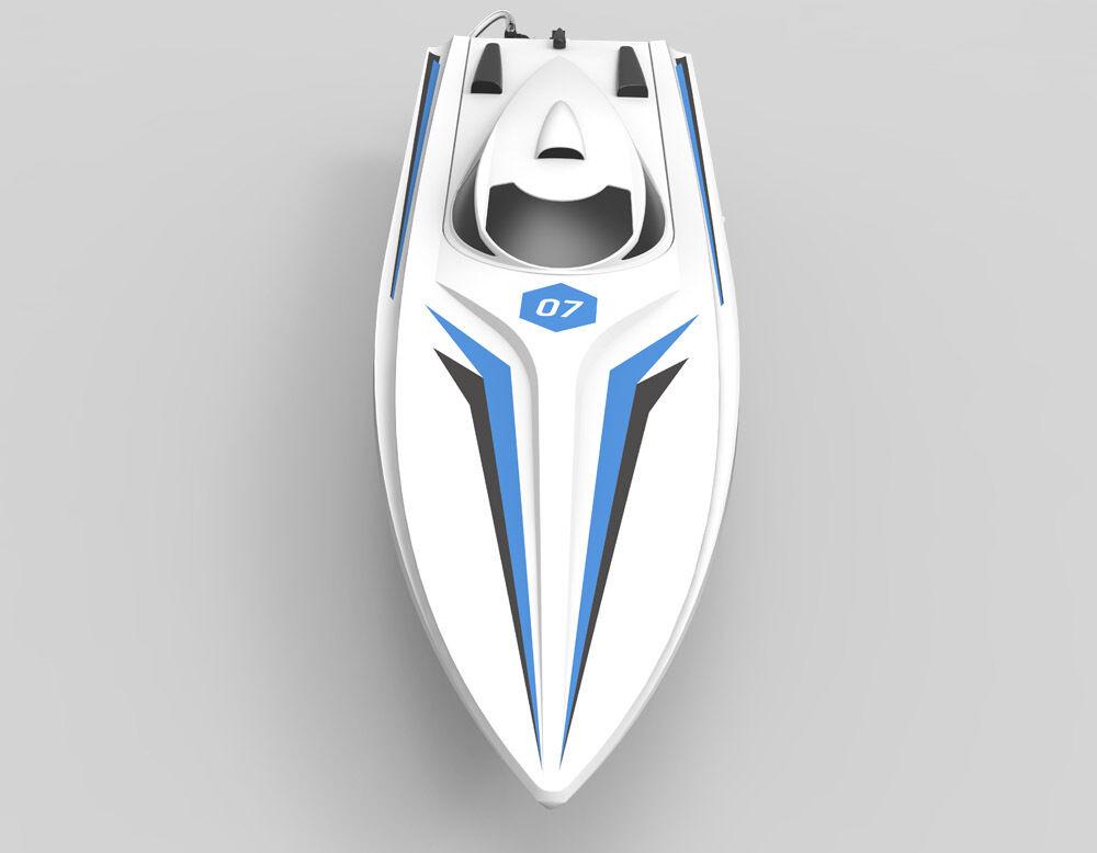 Hoja Sierra Hoja volantex Unibody PNP RC barco de carrera con Batería con servomotor ESC con o
