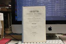 ARCHIVIO STORICO ITALIANO CELLINI 1865