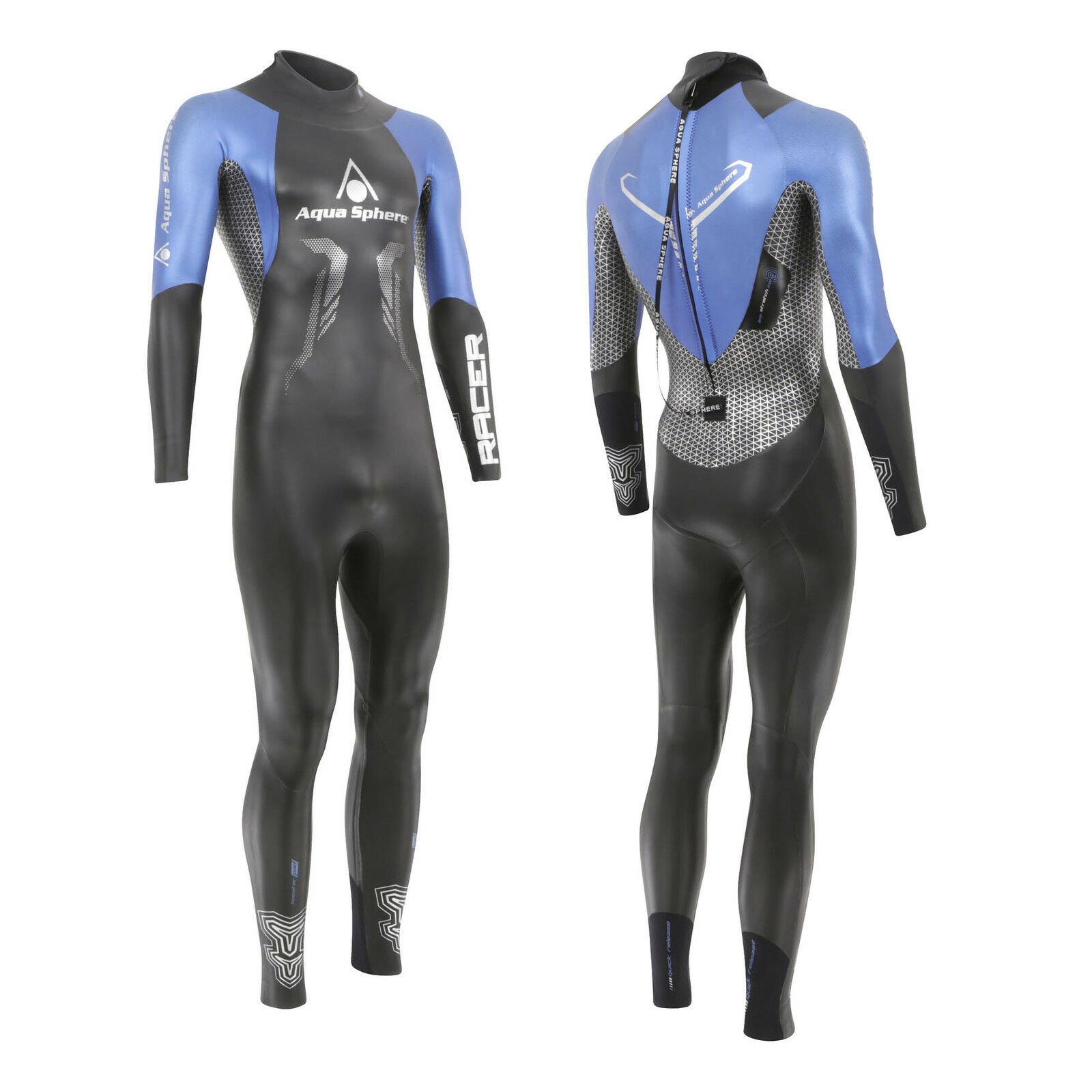 Aqua Sphere 2018 RACER Mens Triathlon Long Sleeve Wetsuit Open Water Swim
