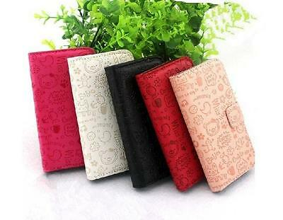 Cute Funny Girl Wallet Card Holder PU Leather Flip Cover Case for LG phones U