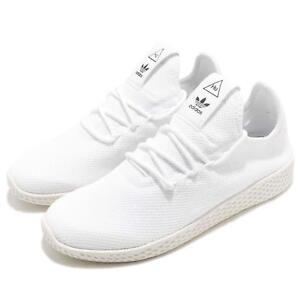 new product be07e 5e8c7 Image is loading adidas-Originals-PW-Tennis-Hu-Pharrell-Williams-White-