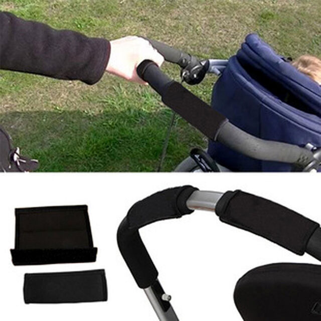 2Pcs Baby Pram Stroller Pushchair Rotary Handle Grip Sleeve Bumper Bar Cover AU