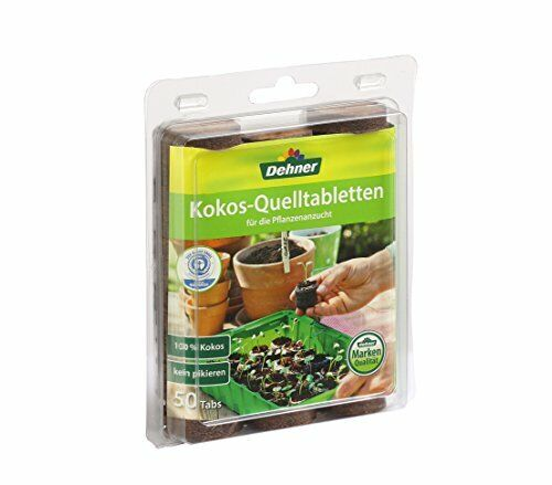 Dehner Coconut-source Tablets with nutrient mix 50 Piece for planting Ø 38 mm