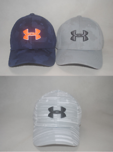New Under Armour Youth Boys/' UA Printed Blitzing Stretch Fit Cap Hat S//M