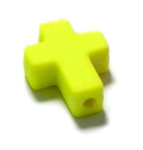 Farbenfrohe Kreuz Perlen /Neonfarben 16*12mm /Kinder/ Baby/ Taufe/ Geburt/Ostern Kreativset-Perlen-Zubehör für Kinder Bastel- & Kreativ-Bedarf für Kinder