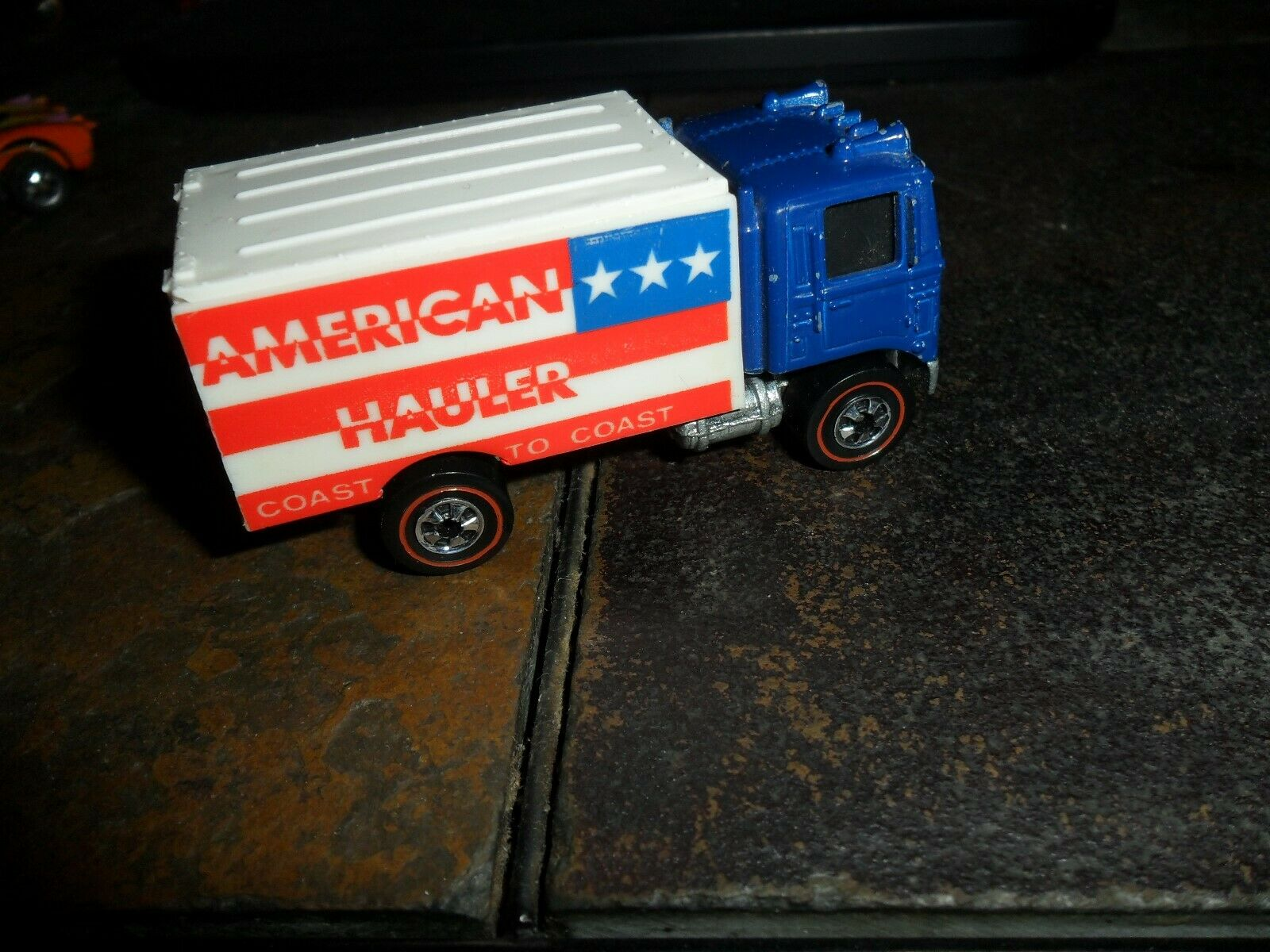 1974 Hot Wheels líneas rojas American Hauler camión Hong Kong Nr Menta (caljeff)