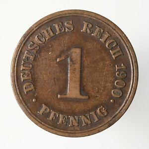 1 Pfennig 1900 E, Kaiserreich, J#10, Kupfer, (29) - Guben, Deutschland - 1 Pfennig 1900 E, Kaiserreich, J#10, Kupfer, (29) - Guben, Deutschland