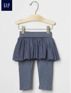 d2a3c44b70de GAP Baby Girl Size 6-12 Months Gray   Blue Ballerina Leggings Tulle ...