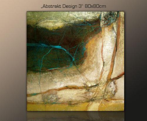 DESIGNBILDER 80x80cm WANDBILD abstrakt modern zeitlos Wohnzimmer Kunst