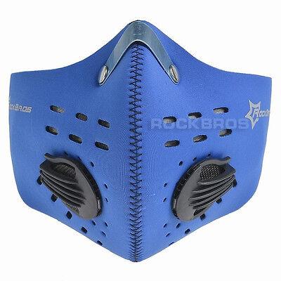 Rockbros Radfahren Anti-Staub Mundschutzmaske Mit Filter Neoprene S Blau