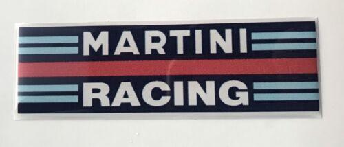 MARTINI Racing Adesivo BADGE 100mm x 30mm cupola in resina 3D a CUPOLA Gel