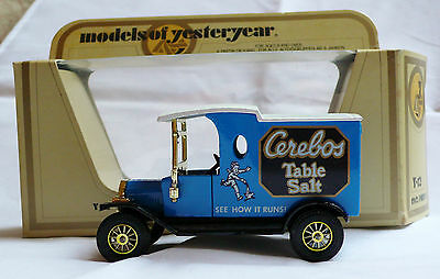 Y-12 FORD MODEL T VAN MODELS OF YESTERYEAR CEREBOS TABLE SALT LOOK-!!!