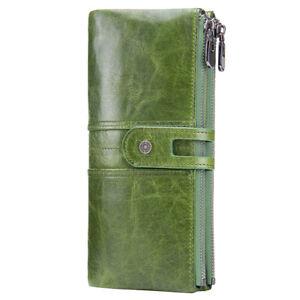 Women-039-s-Leather-Wallet-Large-Clutch-Long-Handbag-Card-Phone-Holder-Coins-Purse