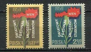 35666-Poland-1959-MNH-World-Youth-Festival-Vienna-2v