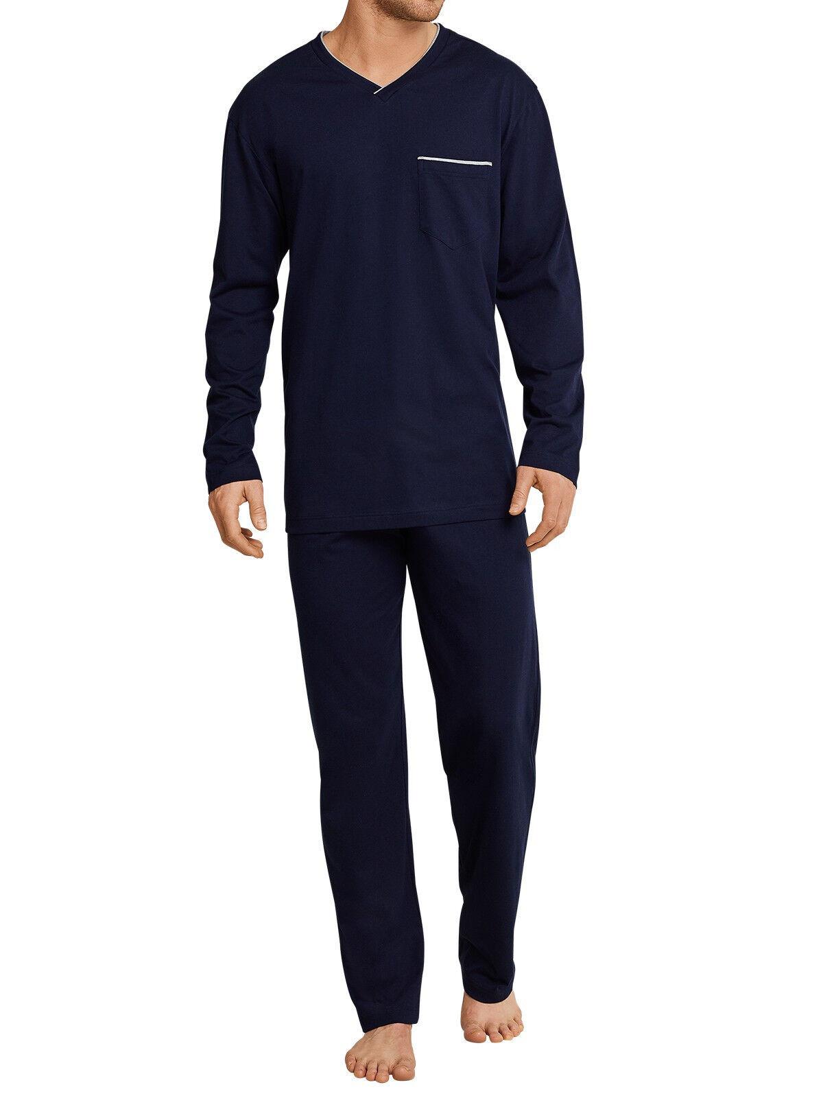 Seidensticker Herren langer Schlafanzug Pyjama Lang - 162687