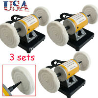 3x Usa Mini Polisher Polishing Machine Dental Jewelry Lathe Buffing Grinder Unit