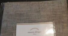 """Pottery Barn Emery Drape Pole Top & Back Loop 50"""" x 84"""" Sable Brown BlackOut New"""