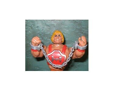 Two piece set of detailed chain /& shackles for vintage MOTU snake mountain