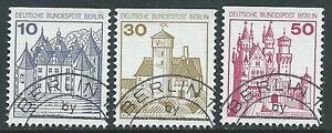 1977-GERMANIA-BERLINO-USATO-CASTELLI-E-FORTEZZE-DA-LIBRETTO-3-VALORI-R46