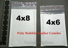 20 Small Poly Bubble Envelope Combo 4x6 Amp 4x8 Padded Shipping Mailers
