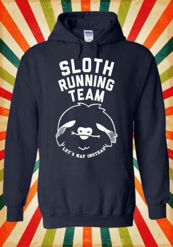 Sloth Running Team Nouveauté Drôle Hommes Femmes Unisexe Top Sweat À Capuche Sweat 1125