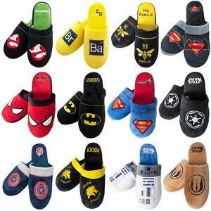 Official Licensed Adult Mule Slippers Fleece Warm Mens Ladies Gift Slip On Plush
