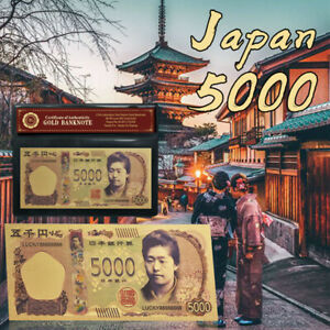 WR-Japan-5000-Yen-Gold-Foil-Banknote-Fine-Quality-Colored-Paper-Money-In-Sleeve