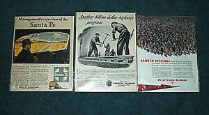 American-Railroads-Advertisements-Pennsylvania-Santa-Fe-American-Vintage