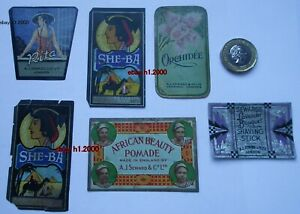 6-VERY-RARE-ANTIQUE-OLD-PERFUME-BOTTLE-LABELS-A-J-STEWARD-amp-CO-LTD-LONDON
