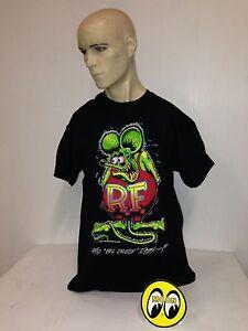 Mooneyes-t-shirt-Rat-Fink-size-XL-1932-Ed-Roth-roadster-hot-rod-ford-gasser