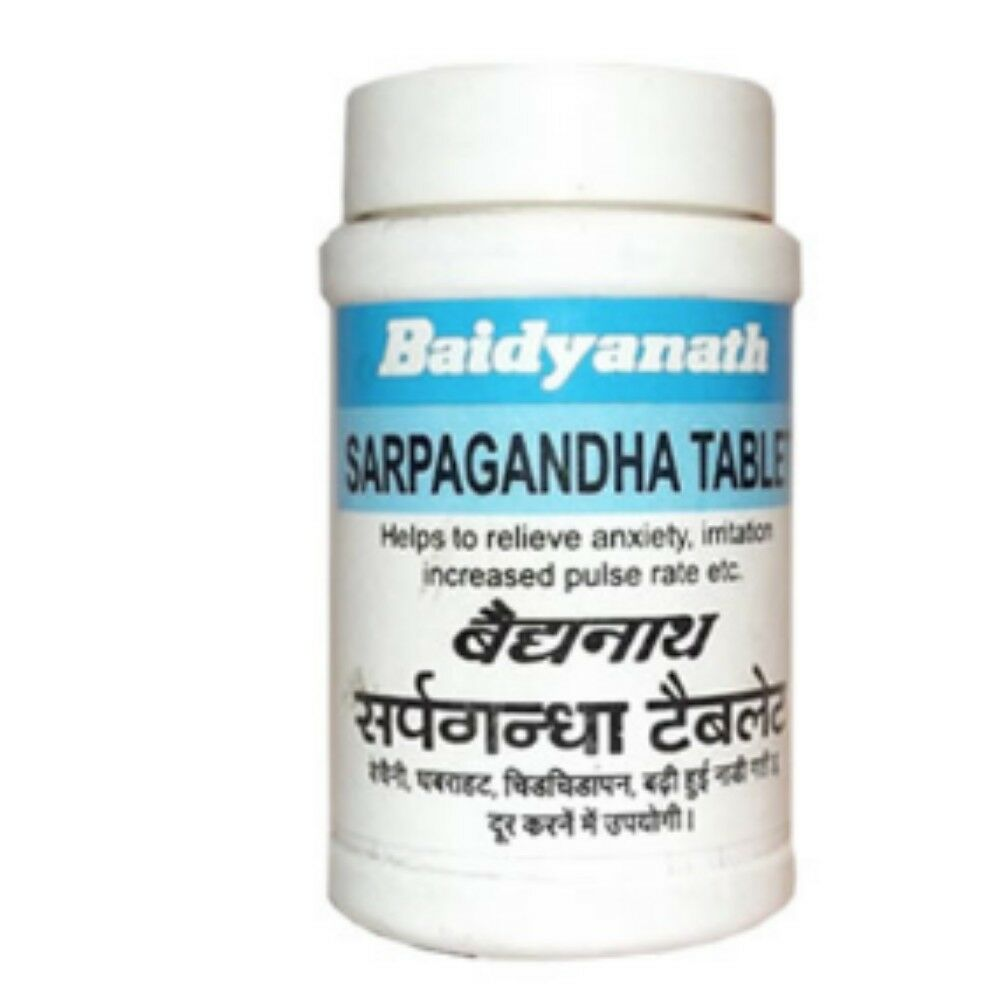 Baidyanath Sarpagandhaghan Bati 30 Tabs For Sleeplessness & High Blood Pressure 1