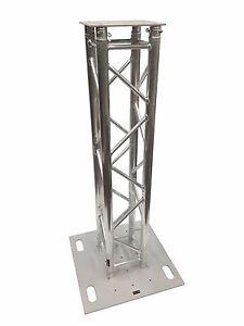 1.5 M 4.1 Ft (environ 1.25 M) Truss Aluminium Dj éclairage Tour Carré Renforcement Du Totem Avec Top-afficher Le Titre D'origine Bonne Conservation De La Chaleur