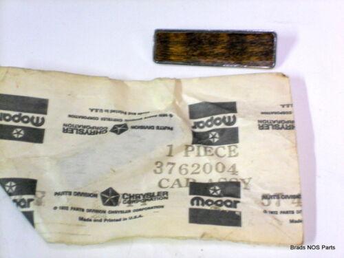 3762004 NOS MoPar 1974 Chrysler DOOR PULL HANDLE CAP WALNUT INSERT SET OF 4