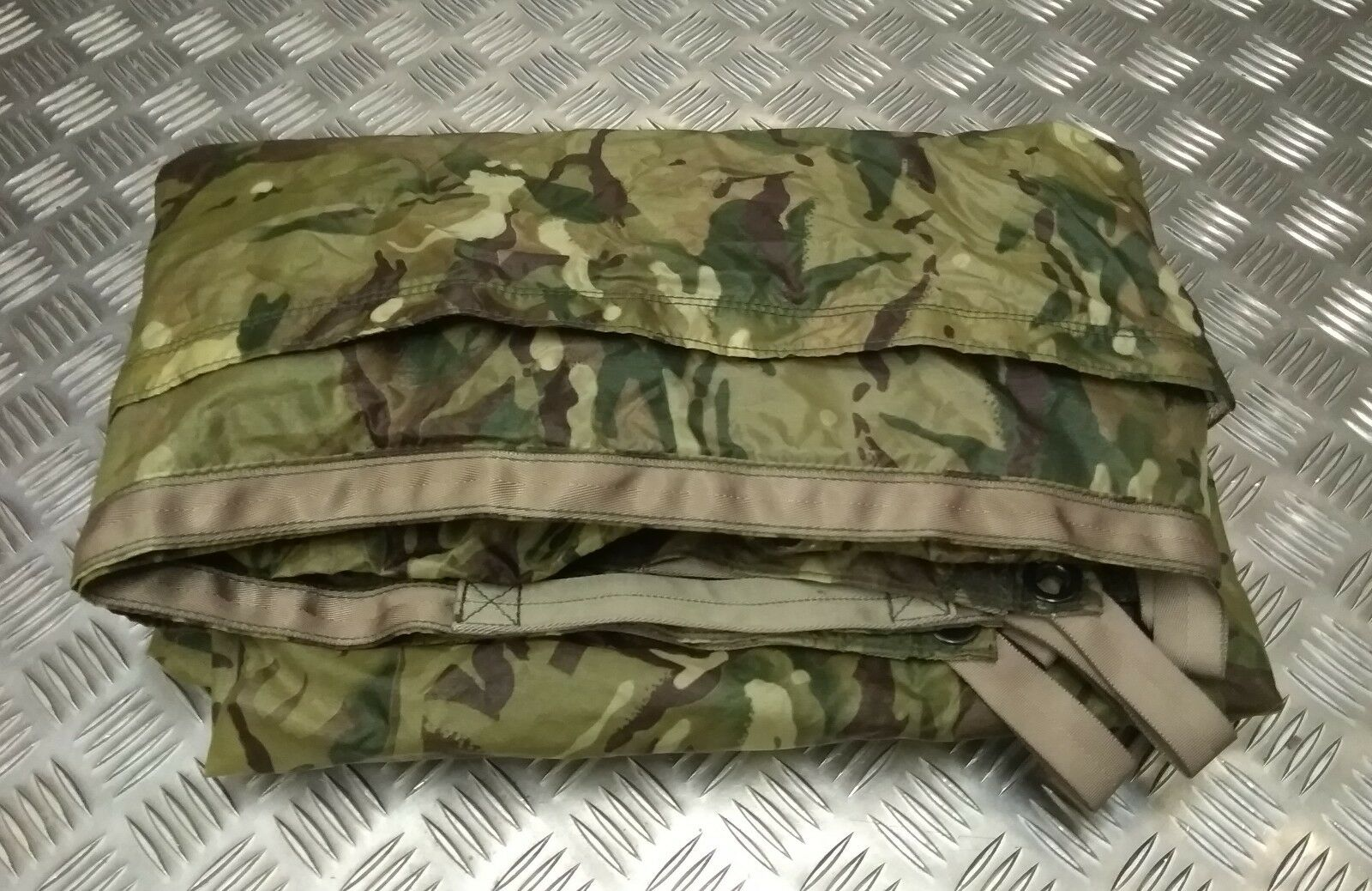 Genuine British Military Issue MTP Multi - - Multi Camo Basher / Tarp / Shelter Sheet GS 15fc7a