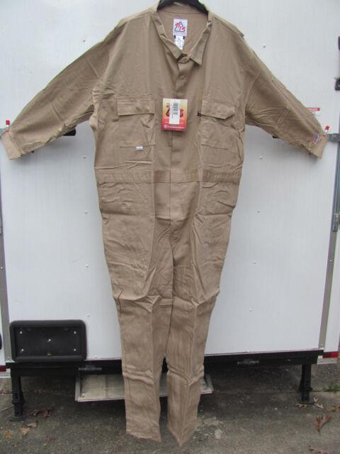 22441be7ee36 Westex FR FRC7KH56R Flame Resistant Khaki 7 Oz Coveralls 56 Regular Reg  2112 for sale online