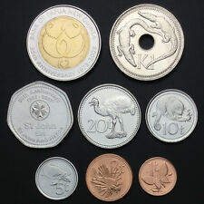 [B-2] Papua New Guinea Set 8 Coins, 1 2 5 10 20 50 Toea+1 2 Kina, 1996-2009, UNC