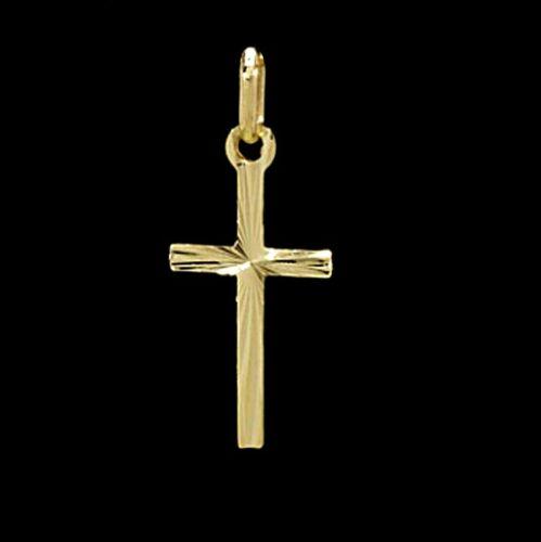 Kreuz Anhänger Echt Gold 333 Gelbgold Kettenanhänger Kommunion Taufe 1a Neu 6374