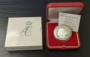 Monaco-Coffret-officiel-10-Euro-Argent-2011-Mariage-princier
