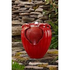 Water Fountain Indoor Outdoor Yard Garden Patio Deck Porch Pot Pump LED Light