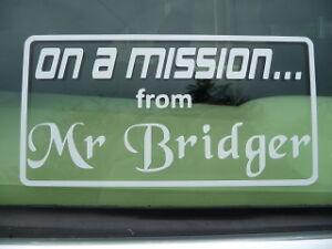 On-A-Mission-From-Mr-Bridger-Italian-Job-Film-Mini-Sticker-Decal-Clubman