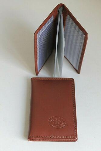 Titolare della carta di credito in pelle con protezione RFID Blocco