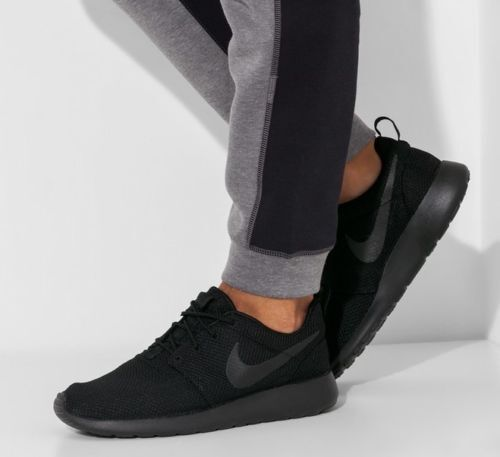 herren schuhe nike roshe one all balck